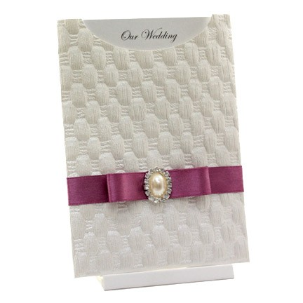 White Wedding Invites. Wedding Invitation - C6
