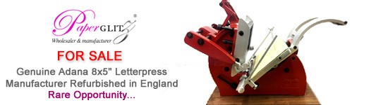 For Sale - Genuine Adana 8x5 Letterpress Kit - Unused since full manufacturer refurbishment