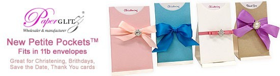 New Petite Pockets - fit in 11b envelopes and great for Christenings, Birthdays, Save The Date, Thank You Cards etc