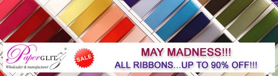 Huge Ribbon Sale - 1000+ Rolls all priced to clear. Be quick - Limited Stocks!!! Once Sold Out, You Miss Out