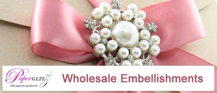 Paperglitz - Wholesale Embellishments - Ribbons, Diamante Buckles, Clusters, Brooches...