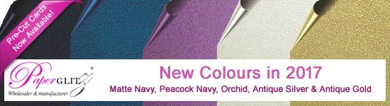 New colours in 2017 - Keaykolour Navy, Classique Metallics Orchid & Peacock Blue & Crystal Perle Antique Silver & Antique Gold