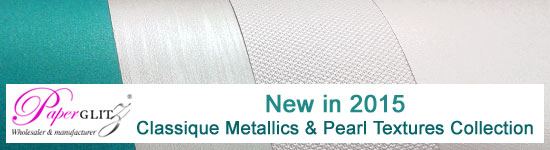 New in 2015 - Classique Metallics Turquoise & Pearl Texture Collection - a stunning new range of papers & cards