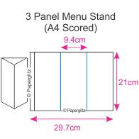 3 Panel Restaurant Menu Cards