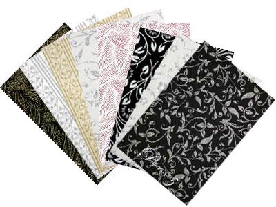 Handmade Glitter Print Papers - Full Sheets