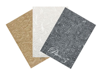 Handmade Embossed Papers - Full Sheets
