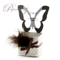 Paperglitz Wholesale Chair Boxes - Butterfly : Stunning 4cm cubes with a chair back in the shape of a butterfly - perfect for wedding favor & bomboniere boxes!!