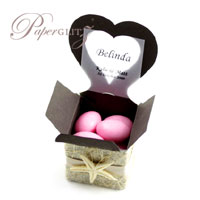 Paperglitz Wholesale Chair Boxes - Heart : Stunning 4cm cubes with a chair back in the shape of a heart - perfect for wedding favor & bomboniere boxes!