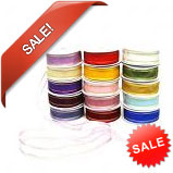 Huge Ribbon Sale Now On - Satin Edged Organza Ribbons, Parasilk Ribbons, Satin Ribbons etc
