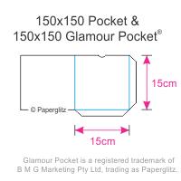 Dimensions of Paperglitz 150mm Square Pocket