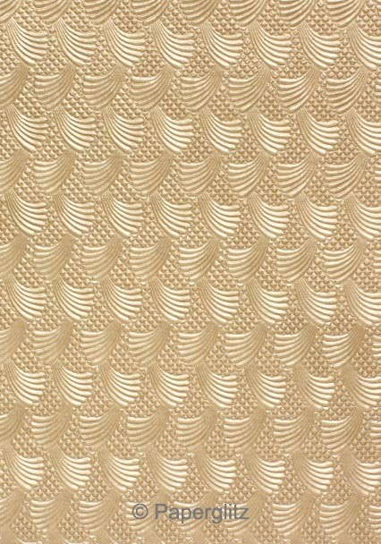 Handmade Embossed Paper - Sea Breeze Mink Pearl A4 Sheets - Pattern not to scale.