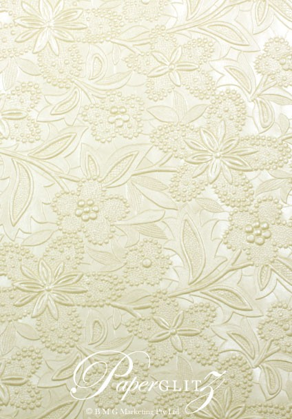 Wholesale Paper - Handmade Embossed Spring Ivory Pearl A4 ...