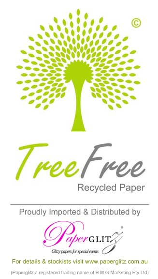 100% Tree Free Paper - Proudly imported and distributed by Paperglitz Australia