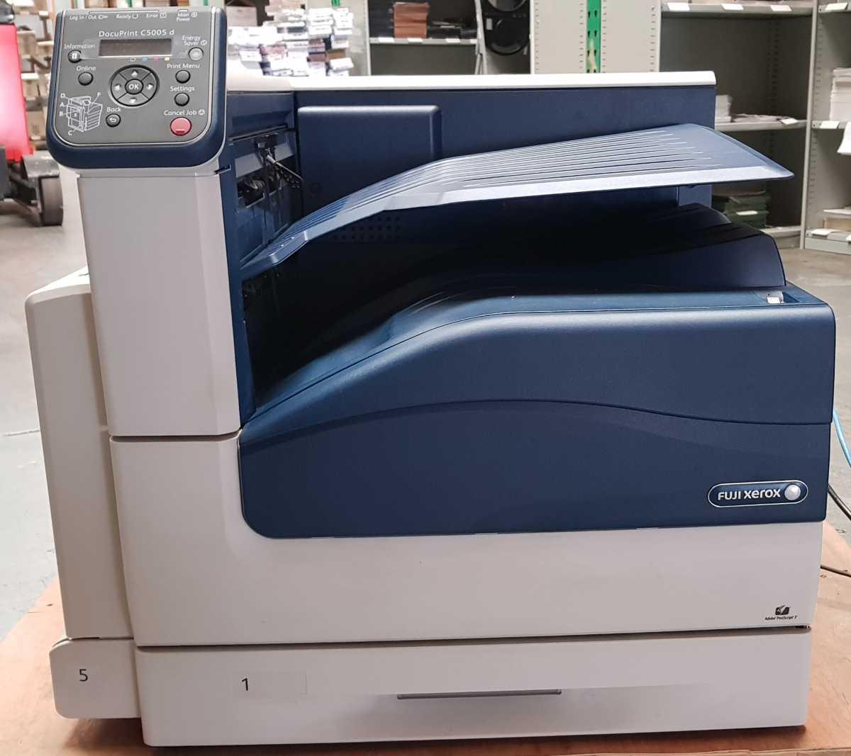 Front of xerox c5005d printer