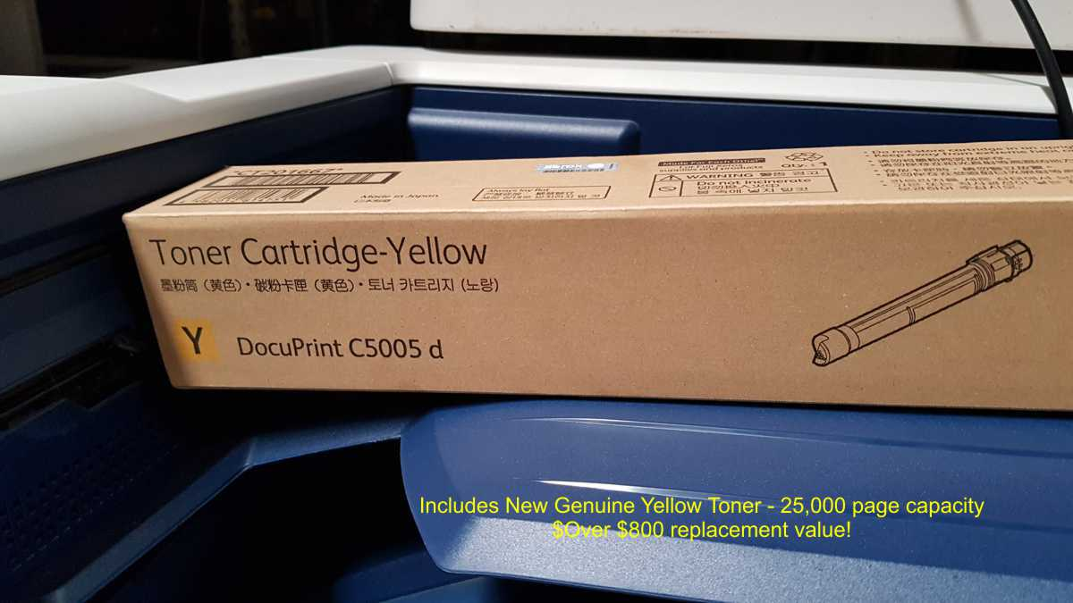 Includes $800 genuine yellow toner cartridge