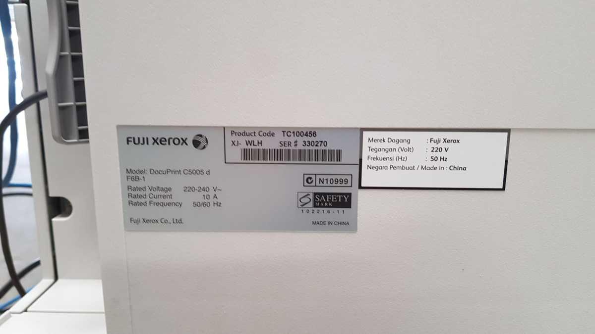 Xerox C5005d - product label