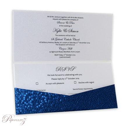 wholesale diy invitation card dl scored folding card crystal