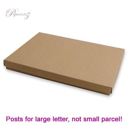 5x7 Inch Invitation Box - Buffalo Kraft Board 283gsm