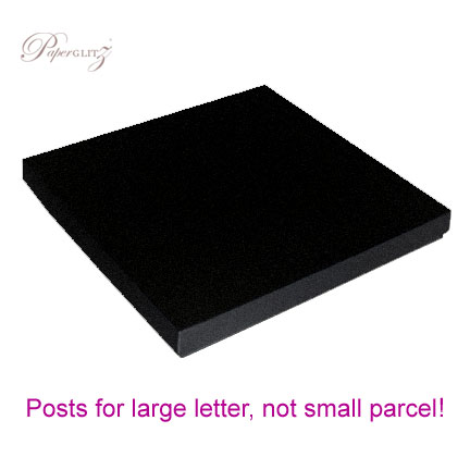 160x160mm Square Invitation Box - Crystal Perle Metallic Glittering Black