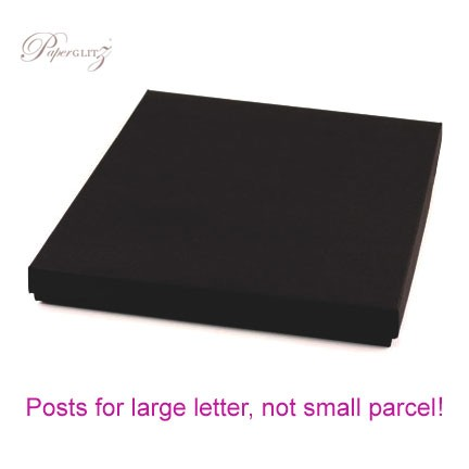 160x160mm Square Invitation Box - Keaykolour Original Jet Black
