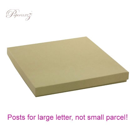 160x160mm Square Invitation Box - Mohawk Via Vellum Kraft
