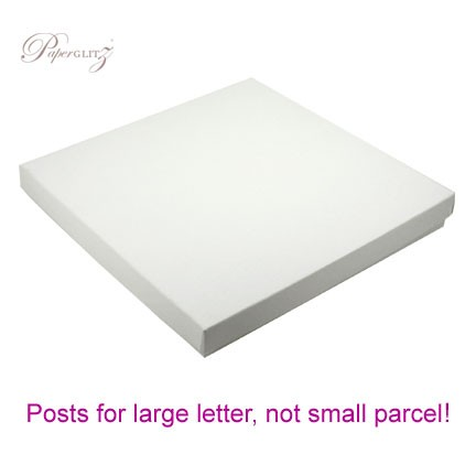 160x160mm Square Invitation Box - Semi Gloss White