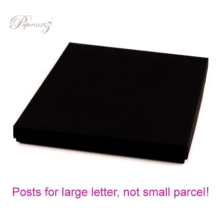 160x160mm Square Invitation Box - Starblack