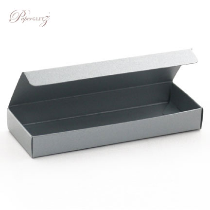 3 Chocolate Box - Crystal Perle Metallic Steele Silver