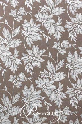 Handmade Chiffon Paper - Autumn Mink Pearl & Silver Foil Full Sheets (56x76cm)