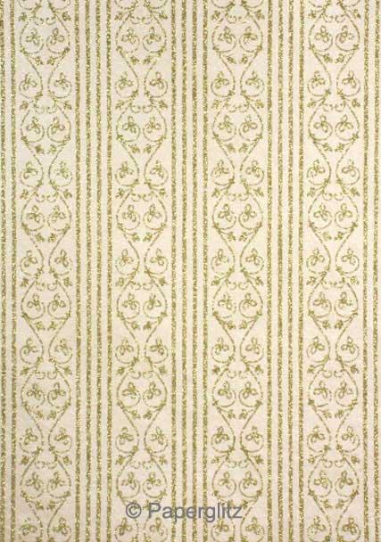 Glamour Add A Pocket V Series 14.5cm - Glitter Print Bliss Ivory Pearl & Gold Glitter