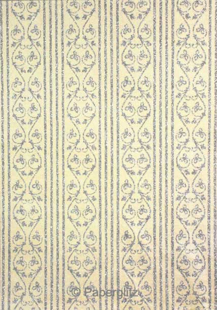 Glamour Pocket 150mm Square - Glitter Print Bliss Ivory Pearl & Silver Glitter