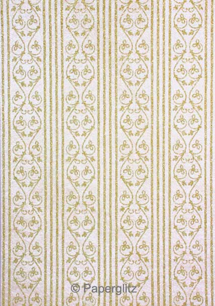 Glamour Add A Pocket 14.85cm - Glitter Print Bliss White Pearl & Gold Glitter