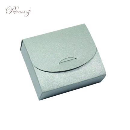 Purse Box - Crystal Perle Metallic Steele Silver