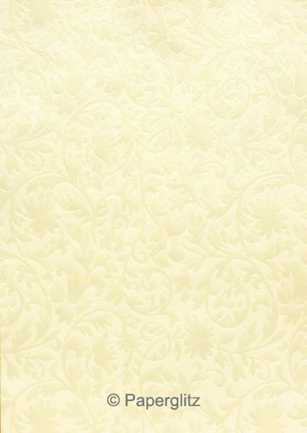 Glamour Add A Pocket V Series 9.9cm - Embossed Botanica Ivory Pearl