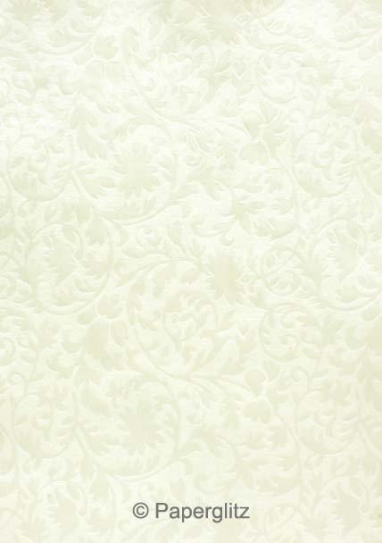 Petite Glamour Pocket - Embossed Botanica White Pearl