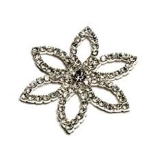 Brooch - Diamante Flower