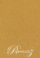 DL 3 Panel Slimline Card - Buffalo Kraft Board 386gsm