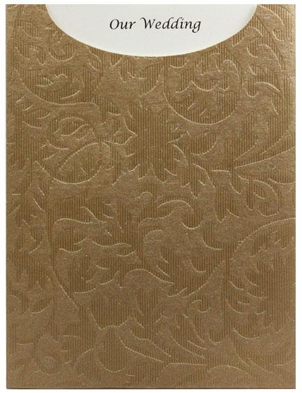 Glamour Pocket C6 - Embossed Botanica Mink Pearl