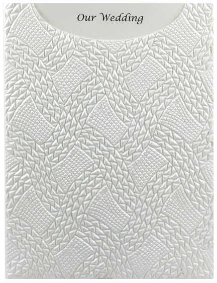 Glamour Pocket C6 - Embossed Destiny White Pearl