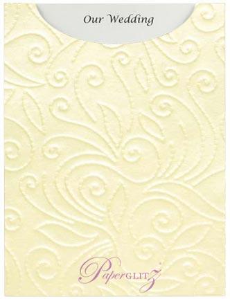 Glamour Pocket C6 - Embossed Elyse Ivory Pearl