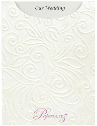 Glamour Pocket C6 - Embossed Elyse White Pearl