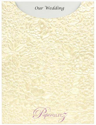 Glamour Pocket C6 - Embossed Flowers Ivory Pearl