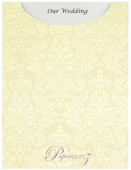 Glamour Pocket C6 - Embossed Grace Ivory Pearl