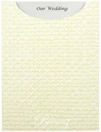Glamour Pocket C6 - Embossed Jute Ivory Pearl