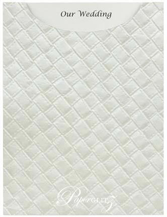 Glamour Pocket C6 - Embossed Leatherette White Pearl
