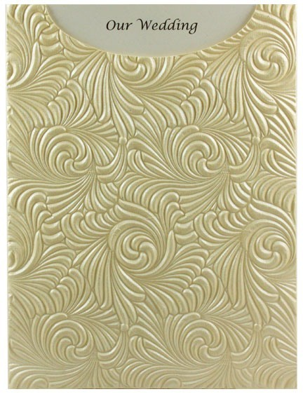 Glamour Pocket C6 - Embossed Majestic Swirl Ivory Pearl