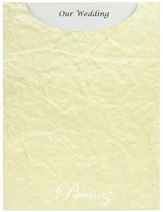 Glamour Pocket C6 - Embossed Crinkle Ivory Pearl