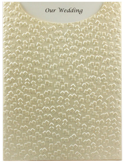 Glamour Pocket C6 - Embossed Modena Ivory Pearl