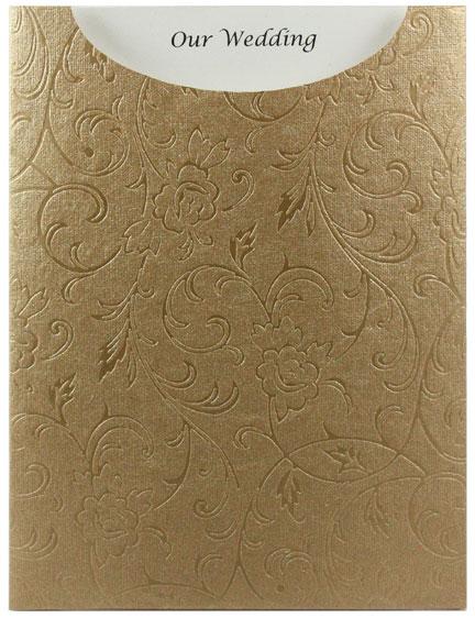 Glamour Pocket C6 - Embossed Olivia Mink Pearl