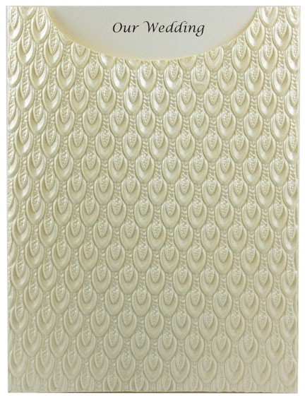Glamour Pocket C6 - Embossed Peacock Ivory Pearl
